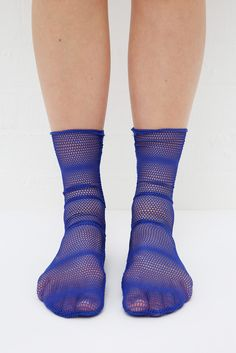 Crochet Pop Socks Blue http://www.thewhitepepper.com/