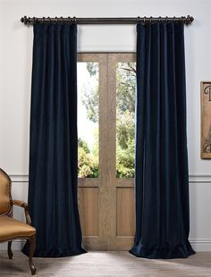 Find Huge Savings On An Half Price Drapes Navy Vintage Cotton Velvet Curtain Order Now By Go To Our Store Expert Advice