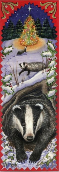 even honeybadgers enjoy christmas- they certainly don't care about it but they enjoy it.