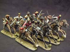 The Art of the Toy Soldier...Hand painted 60mm plastic mounted Confederates by TSSD