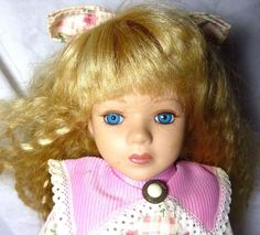 Vintage Collector's Choice Porcelain Doll Series By Dandee With Cetificate