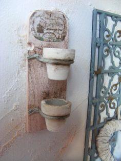 12 de escala de plantas de pared elegante lamentable ollas-Dolls casa en miniatura