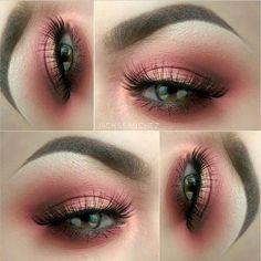 Beautiful peach & coral eye. ♡