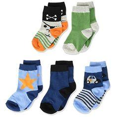 Melton Baby-Jungen Numbers 5er Pack Socken Gemustert
