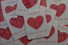 Lovely idea for homemade Valentines cards from lovelydesign by delores