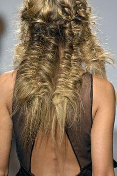double fishtail braids