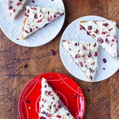 Just like the popular Starbucks Cranberry Bliss Bars and the taste is spot-on. These very authentic bars are so fast and easy to make. The batter comes together in one bowl, by hand, in just minutes. While the bars bake make the cream cheese and white-cho