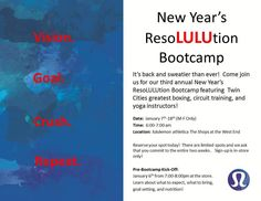 New Year's ResoLULUtion Bootcamp