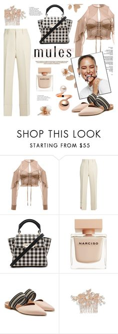 """Spring show"" by edita1 ❤ liked on Polyvore featuring Gucci, ZAC Zac Posen, Reverie, Zara, Narciso Rodriguez, Nina and mules"