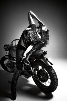 untitled motorcycles: UM-2 in a photo shoot with Noomi Rapace [ The Girl With The Dragon Tattoo ] for 10magazine Photographed by Cedric Buchet