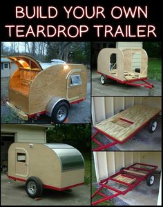 Love The Idea of Owning a Camper Trailer, But Don't Like The Price Tag? Here's The Solution (Woodworking Plans) Woodworking Furniture Plans, Cool Woodworking Projects, Woodworking Tips, Teardrop Trailer Plans, Teardrop Caravan, Mobile Workshop, Wood Projects For Beginners, Diy Camper, Camper Trailers