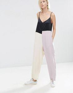 ASOS White | ASOS WHITE Colour Block Cami Jumpsuit at ASOS