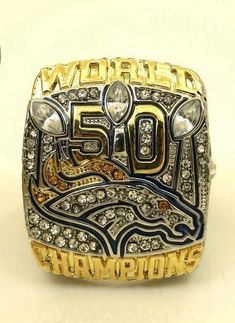 Size 6 To 14! 2016 New Arrival 2015 Denver Broncos Super Bowl 50 Championship Ring Replica Offical Edition MILLER