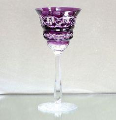 Art Deco Römer Überfangglas Kristall Josephinenhütte Antikglas, Kunstglas, lila