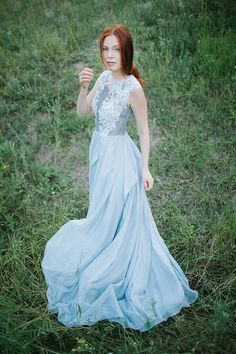 Hey, I found this really awesome Etsy listing at https://www.etsy.com/listing/240454972/grey-wedding-dress-iris