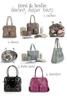 Adorable & stylish diaper bags!  = )