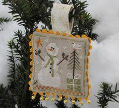 Frosty Flakes Snowmen cross stitch