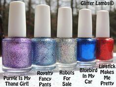 Robots For Sale: Glitter Topper Nail Polish by GlitterLambsPolish
