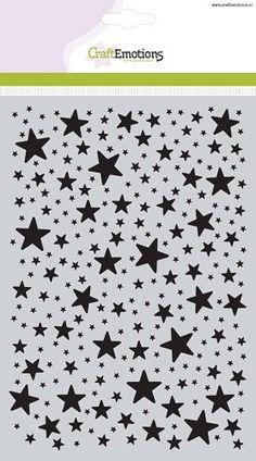 Craft Emotions Mask Stencil - Stars