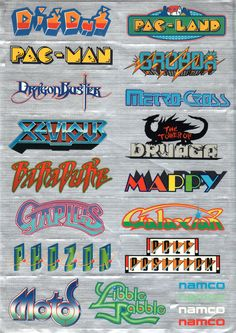 Vintage Video Games, Classic Video Games, Retro Video Games, Video Game Logos, Retro Arcade Games, Gaming Wall Art, Flipper, Penny Arcade, Typography Poster Design