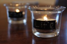 Chalkboard Candle Holder by HauteChicreations on Etsy, $6.75