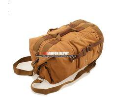 Bucket Barrel Shape Canvas Backpack Vintage Thick Canvas Bag Metal insert Buckle special design bag denim