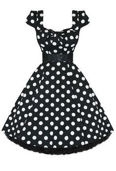 Hearts & Roses Large Polka Dot Bow Front Dress