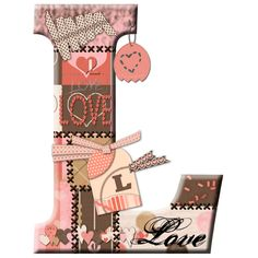 CH.B *✿* Alfabeto de San Valentin....L Dolly Parton, Always Love You, Joy And Happiness, Letters And Numbers, Valentino, Initials, Hearts, Scrapbook, Lettering