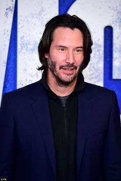 What a guy! Keanu pictured at the John Wick: Chapter 2 gala screening at London's Leiceste...