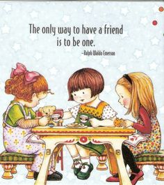 Only Way to Have A Friend Is to Be One Tea Party Magnet with Mary Engelbreit Art | eBay