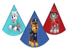 PAW pattuglia cappelli di partito di compleanno ispirato. Instand scaricare 8 zampa unica pattuglia Birthday Party Hats. Cappellini festa di compleanno a tema di pattuglia di zampa