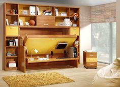 This convertible shelf is actually very common in a lot of places. It can become a table, a sofa, a shelf or a bed. It all depends on what you want to do with its convertible design.