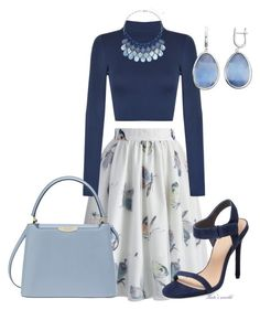 """""""dress2042"""" by k-meszaros on Polyvore featuring Chicwish, WearAll, Pure Navy and Henri Bendel"""