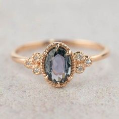 Unheated natural teal sapphire diamond ring, oval peacock sapphire engagement ring, rose gold, unique greenish blue sapphire ring wedding rings Your place to buy and sell all things handmade Purple Sapphire, Blue Sapphire Rings, Green Sapphire Engagement Ring, Purple Rings, Silver Rings, Sapphire Wedding, Natural Sapphire, Vintage Sapphire Rings, White Saphire Ring
