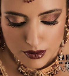 bridal makeup minus the dark lipstick