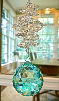 Swarovski Antique Green Crystal Ball by HeartstringsByMorgan