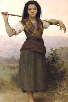 The Shepherdess. High quality vintage art reproduction by Buyenlarge. One of many rare and wonderful images brought forward in time. I hope they bring you pleasure each and every time you look at them