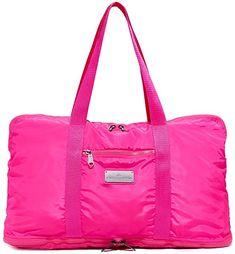 adidas by Stella McCartney Women's Yoga Bag, Shock Pink/Ruby Red/Gunmetal, One Size: Shoes Yoga Bag, Tennis Clothes, Stella Mccartney Adidas, Ruby Red, Weekender, Gym Bag, Amazon, Pink, Bags