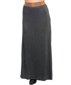 Take a look at this Gray Pattern-Waist Maxi Skirt - Women by Ami Sanzuri on #zulily today!
