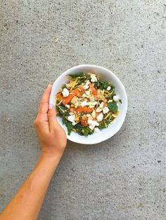 3 delicious kale salads with lemon vinaigrette dressing. How-to massage kale for these great tasting and easy salads: kale/carrot/egg salad, kale/carrot/apple salad, and kale/carrot/quinoa salad.