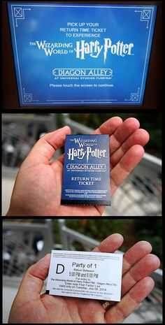 Get a RETURN TICKET instead of waiting in the Stand-By line. An explanation of the Return Ticket system: http://www.orlandoinformer.com/universal/harry-potter-world-return-tickets/  Recently posted comments about the waits:  http://forums.orlandoinformer.com/topic/1817-diagon-alley-return-tickets-standby-queue-to-enter-the-area/  Great DIAGON ALLEY TOURING TIPS (page down to that header):  http://touringplans.com/universal-studios-florida/lands/wizarding-world-of-harry-potter-diagon-alley#