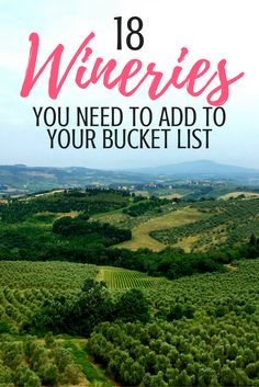 18 Wineries from 18 Different Wine Regions that you NEED to add to your bucket list | Wine Tasting | Wine Around the World | Wine Tourism