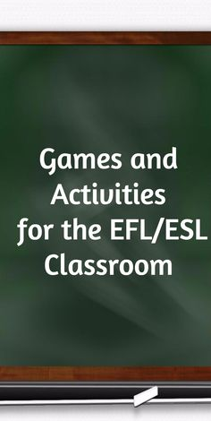 Games & Activities for the ESL/EFL Classroom (I-TESL-J) Pinned by http://www.protefltraining.com
