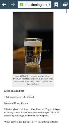 Little beer shot recipe