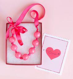 Valentine's Gum Ball Necklaces