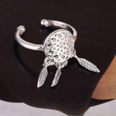 http://www.ebay.co.uk/itm/151826544977?ssPageName=STRK:MESELX:IT&_trksid=p3984.m1555.l2649  #ring #dreamcatcher