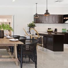 Our black Malawi chairs create a relaxed resort style feel in this beautiful waterfront home at Paradise Waters which goes up for auction this Sat 25th Nov with @lambertwillcox