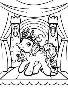 Rainbow Dash Wears A Crown Coloring Page