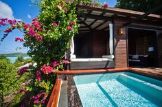 hillside suite with private plunge pool #Antigua