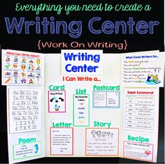 Everything you need to create a fabulous Writing Center.!  Can be used on a display board, bulletin board, wall, or in a writing notebook.